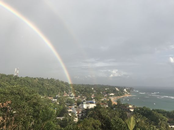 Rainbow over Unawatuna