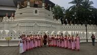 Buddhist Monks at the Temple of the Sacred Tooth Relic